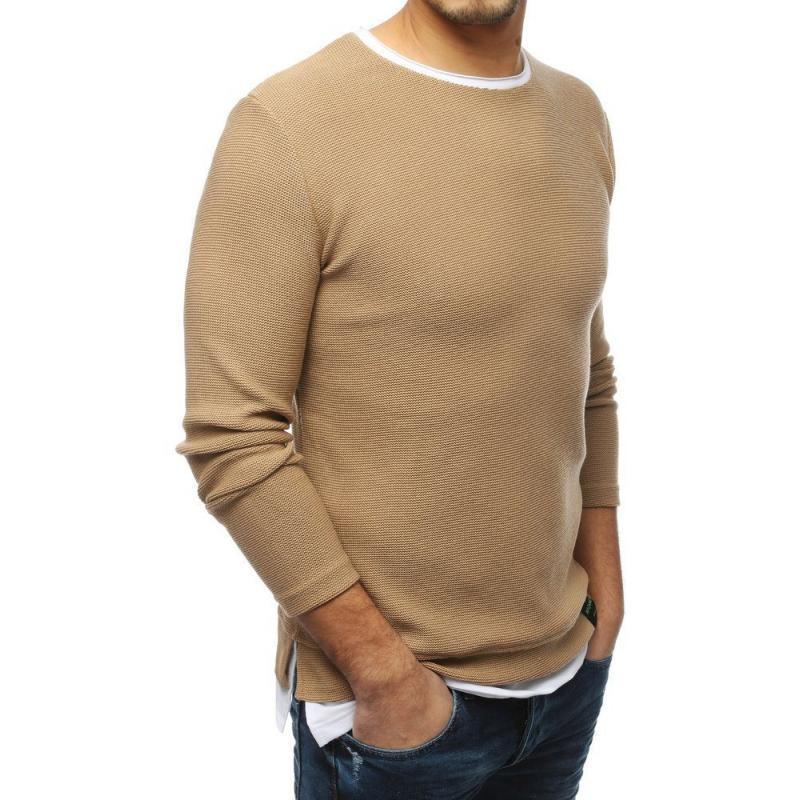 Férfi modern barna pulóver