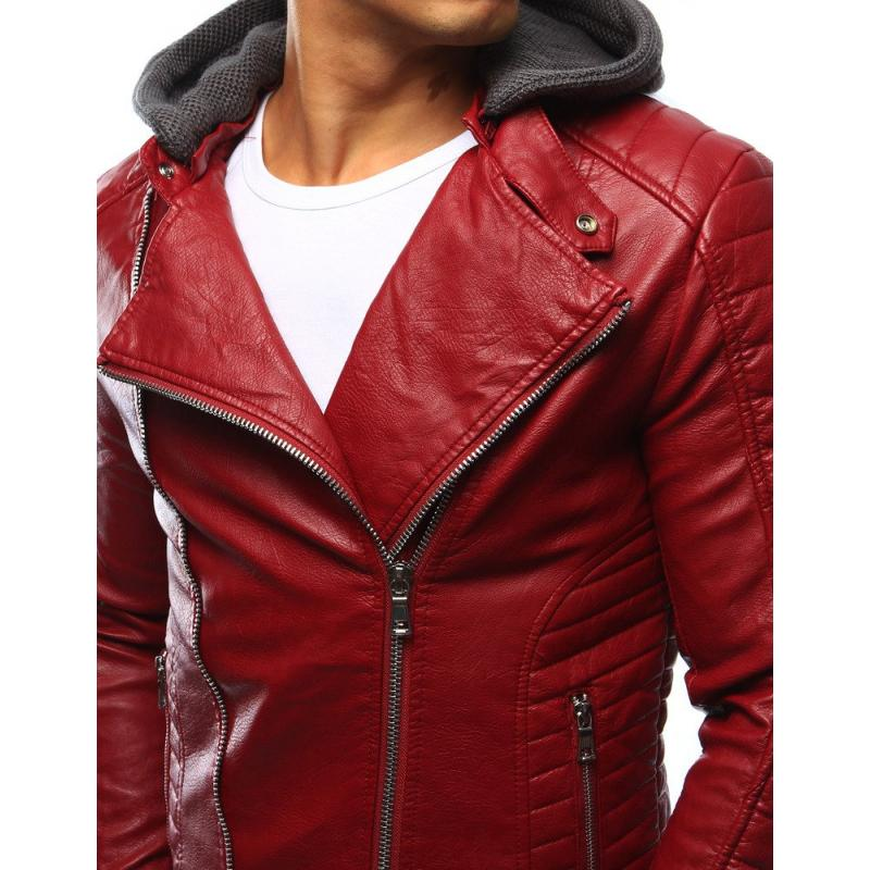 Férfi bőrkabát piros | manCLOTHES.hu