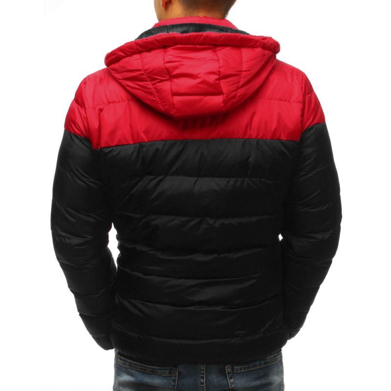 Férfi téli kabát steppelt fekete  55cf39aeef