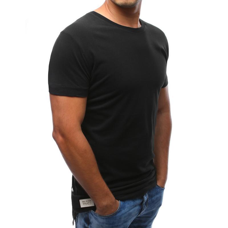 c4cdc97740 Férfi fekete póló nyomtatás és a nyak körül | manCLOTHES.hu
