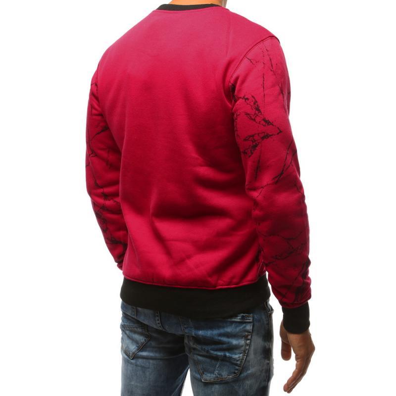 52352b3d2f Férfi pulóver STYLE nyomtatott piros | manCLOTHES.hu