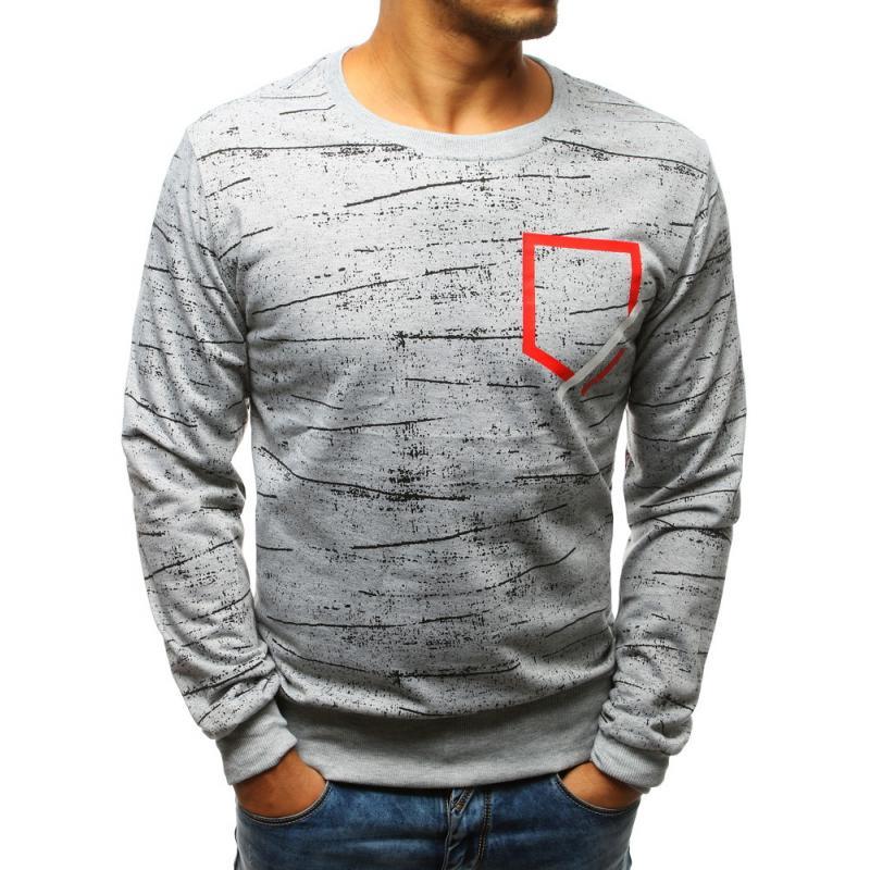 STYLE Férfi pulóver szürke nyomtatási