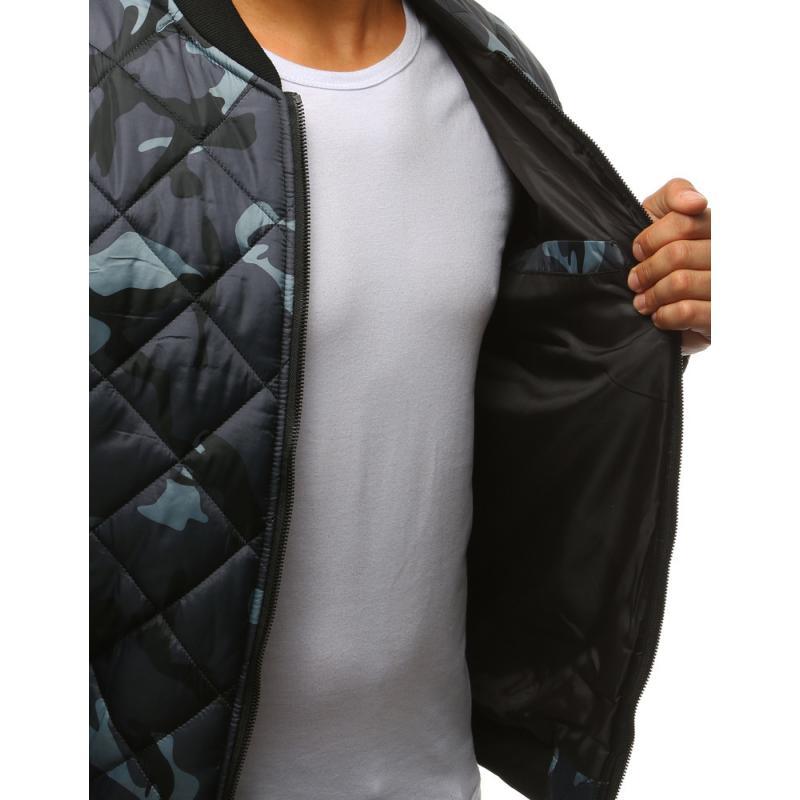 Stílusú férfi terepszínű kabát steppelt kabát bomber szürke terepmintás ae9813d491