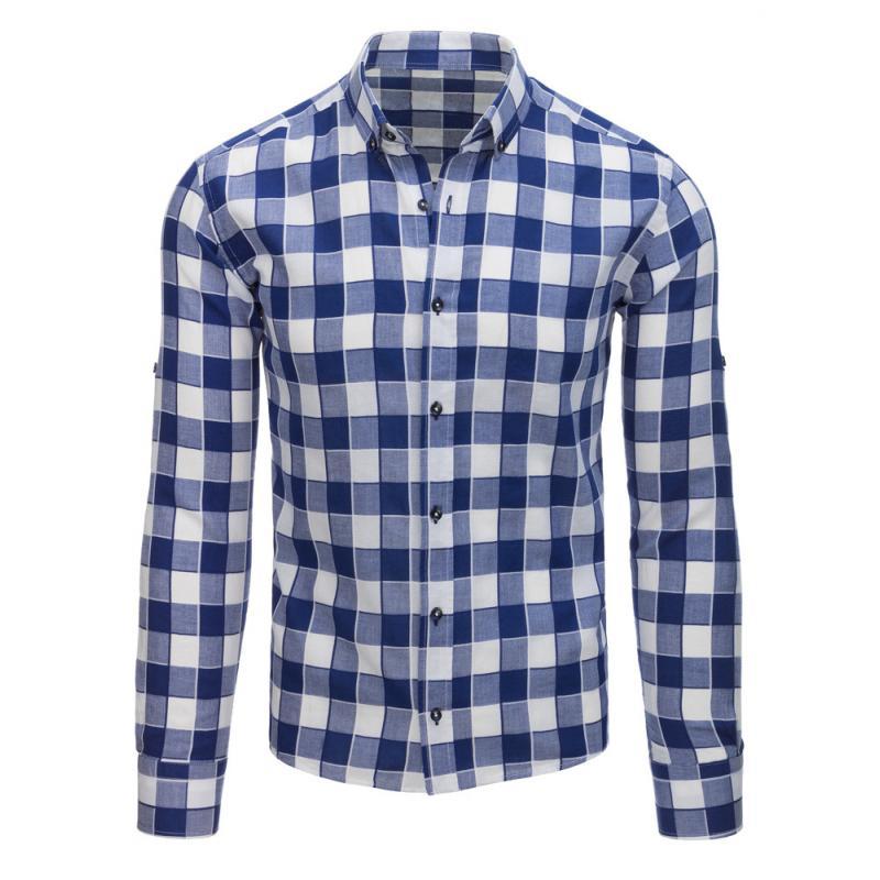 33d6826095 Kék és fehér kockás ing férfi stílusa | manCLOTHES.hu