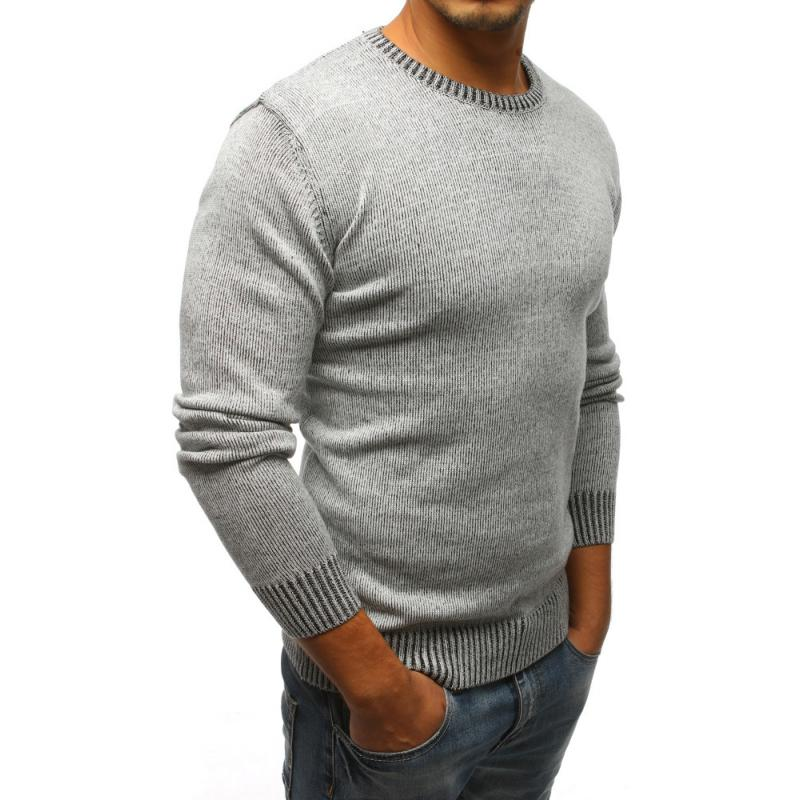 Férfi pulóver szürke  9b5680bc0b