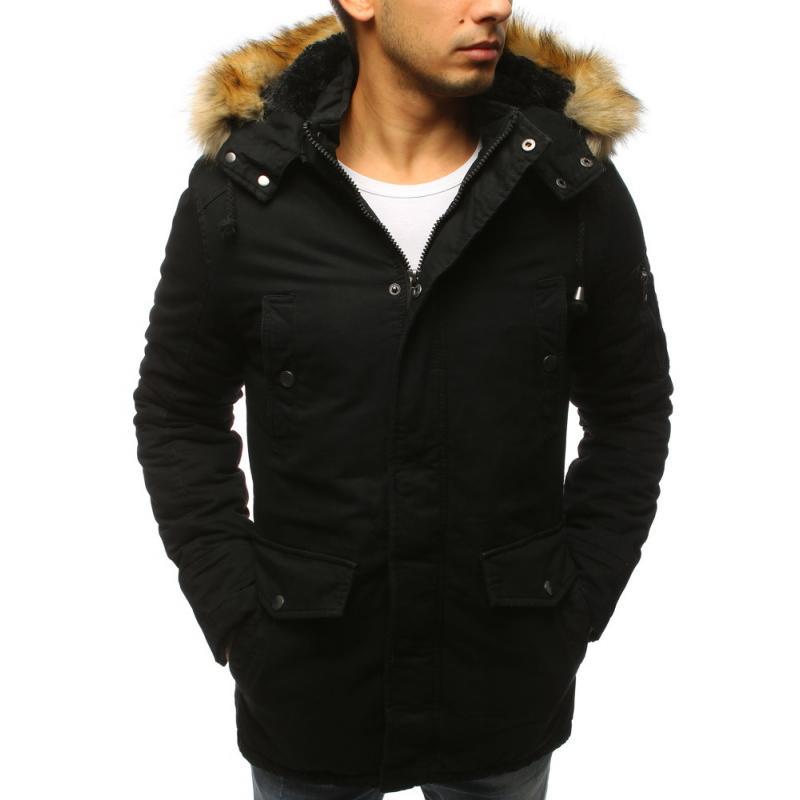 ad68475368 NewStyle Férfi fekete téli kabát télikabát | manCLOTHES.hu