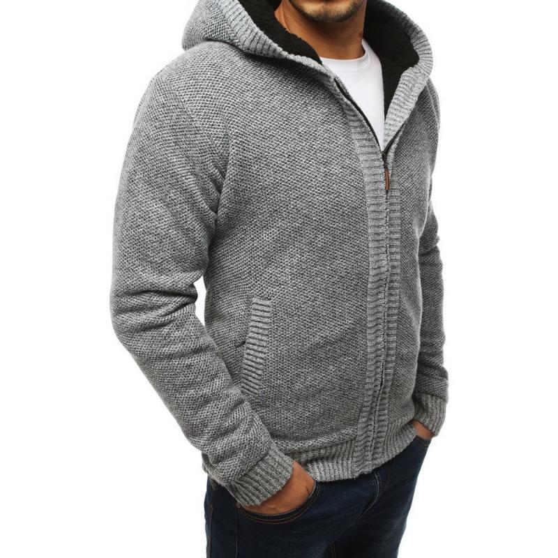 Meleg férfi pulóver világosszürke | manCLOTHES.hu