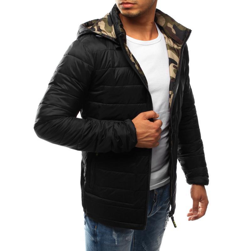 Férfi steppelt kabát kapucnival 0b0e3ac7ea
