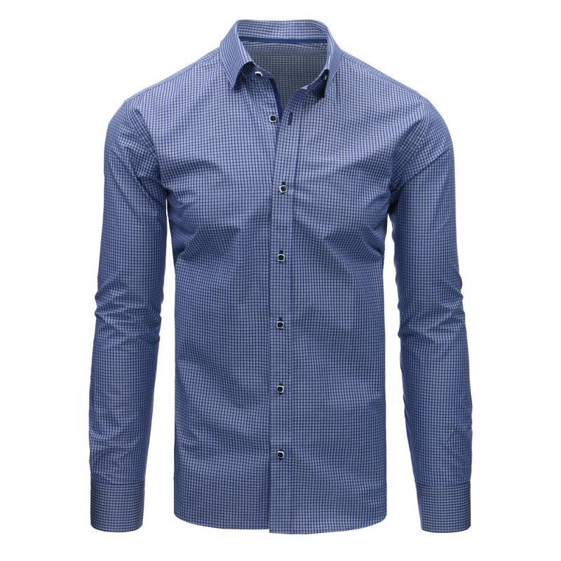 6cf8d7dc29 Kék kockás férfi ing, hosszú ujjú | manCLOTHES.hu