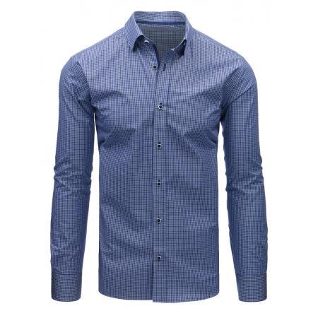 fb381f4cda Kék kockás férfi ing, hosszú ujjú