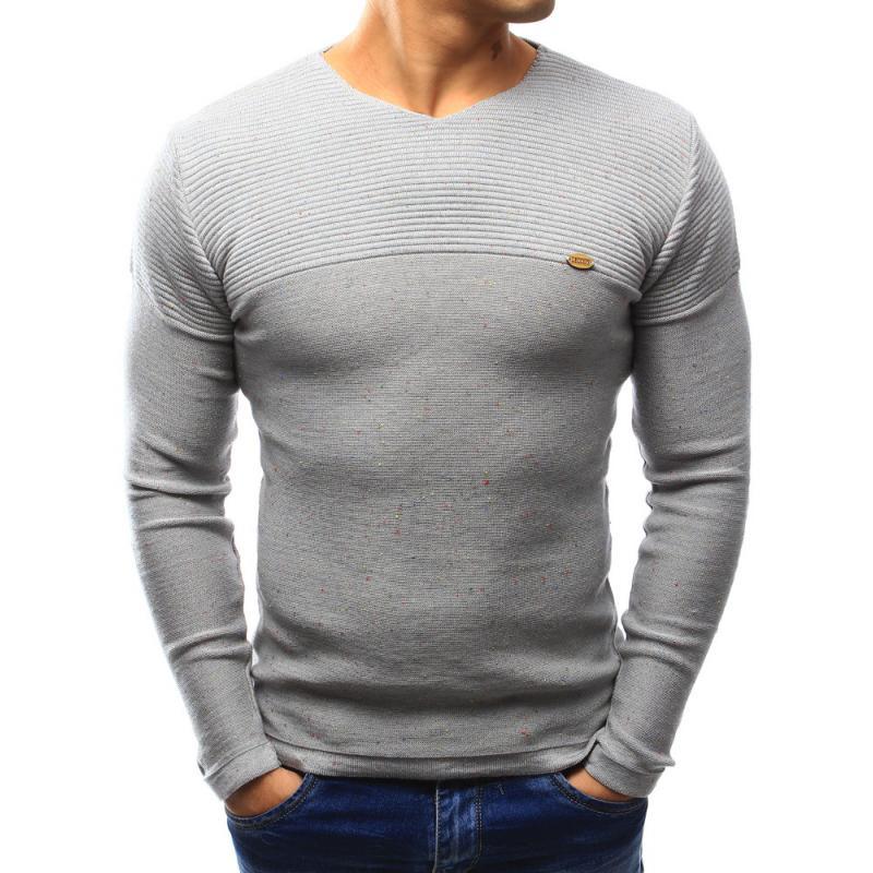 Kényelmes férfi pulóver szürke  ea606bd431